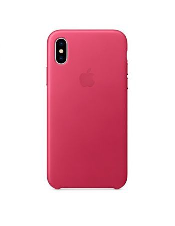 Чехол для iPhone Apple iPhone X Leather Case Pink Fuchsia